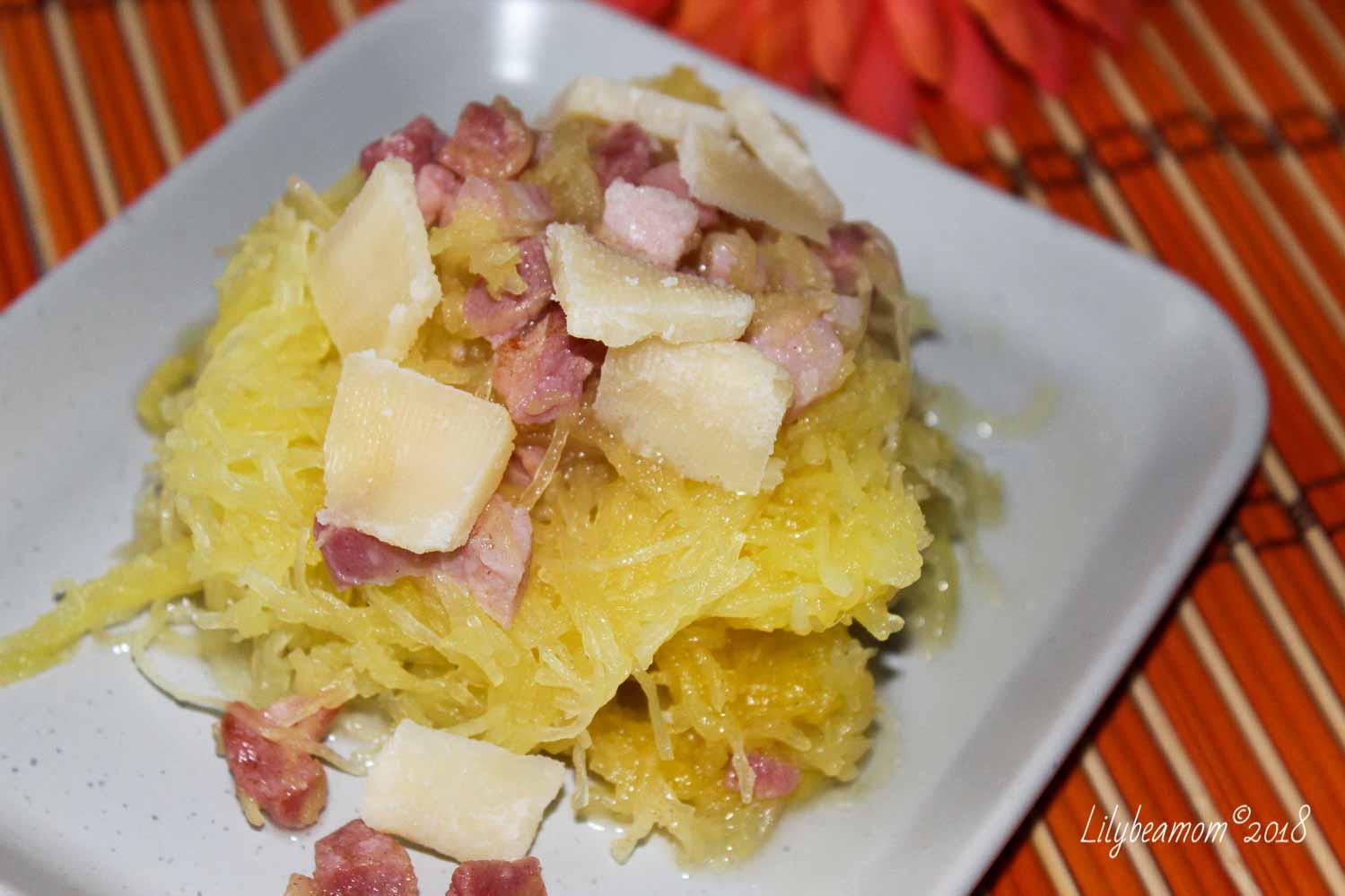 Zucca spaghetti con pancetta e grana | paninisopraffini.com