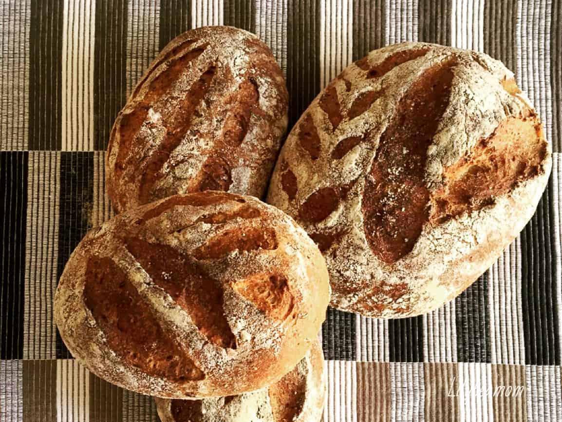 Panini di farro e grano saraceno